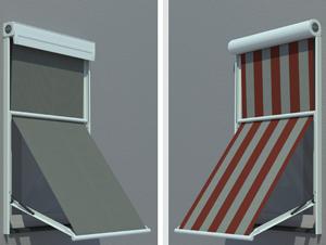 markisen und roll den icnib. Black Bedroom Furniture Sets. Home Design Ideas